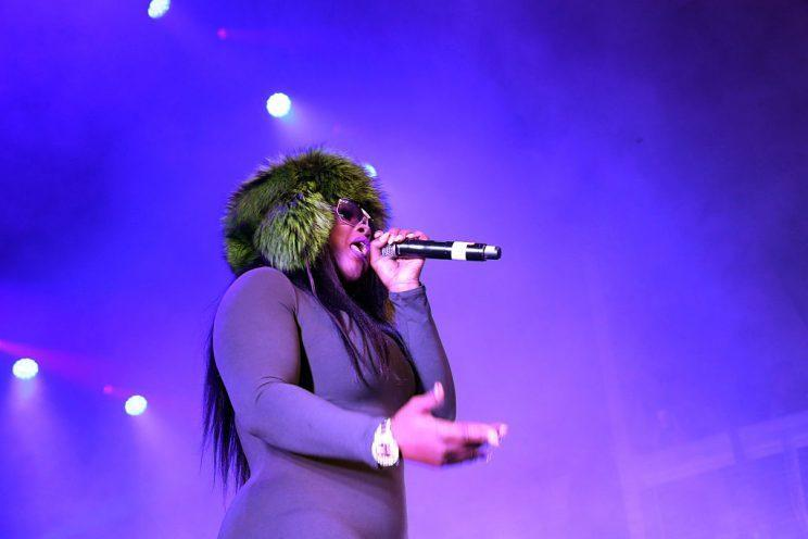 Remy Ma performing in New York City. She recently revealed that she'd had an ectopic pregnancy.