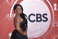 Audra McDonald arrives at the 74th annual Tony Awards at Winter Garden Theatre on Sunday, Sept. 26, 2021, in New York. (Photo by Evan Agostini/Invision/AP)