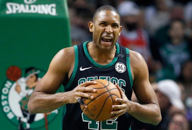 "Celtics center <a class=""link rapid-noclick-resp"" href=""/nba/players/4245/"" data-ylk=""slk:Al Horford"">Al Horford</a> isn't always afraid of the basketball. (AP)"