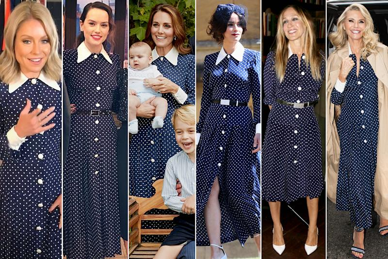 Kate Middleton's Polka Dot Dress Is a Celeb Fave - See the 5 Stars Who've Worn it Before