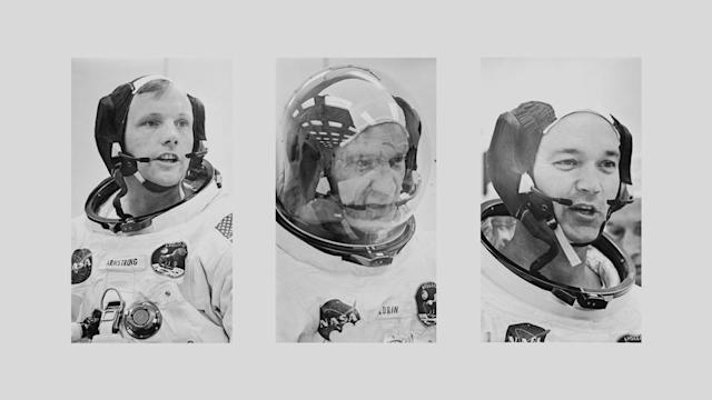 Real-time data from the Apollo 11 astronauts, carefully monitored by Mission Control, capture the frenzied maneuvers that put men on the moon.