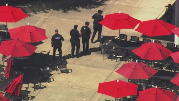 PHOTO: The shooting appears to have occurred in a courtyard area on the YouTube campus, according to San Bruno Police. (KGO)