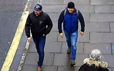 2018 Year In Focus News LONDON, ENGLAND - SEPTEMBER 05: (EDITORS NOTE: Alternative crop of image 1027065702.) In this handout photo issued by the Metropolitan Police, Salisbury Novichok poisoning suspects Alexander Petrov and Ruslan Boshirov are shown on CCTV on Fisherton Road, Salisbury at 13:05hrs on 04 March 2018, released on September 05, 2018 in London, England. Two Russian nationals using the names Alexander Petrov and Ruslan Boshirov have been named as suspects in the attempted murder of former Russian spy Sergei Skripal and his daughter Yulia March, 2018. (Photo by Metropolitan Police via Getty Images) - Credit: Getty Images Europe