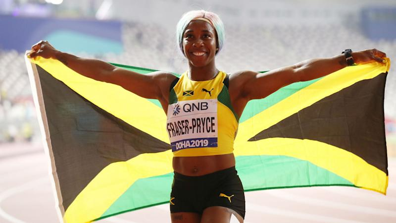 World Athletics Championships: Fraser-Pryce cruises to gold in 100 metres