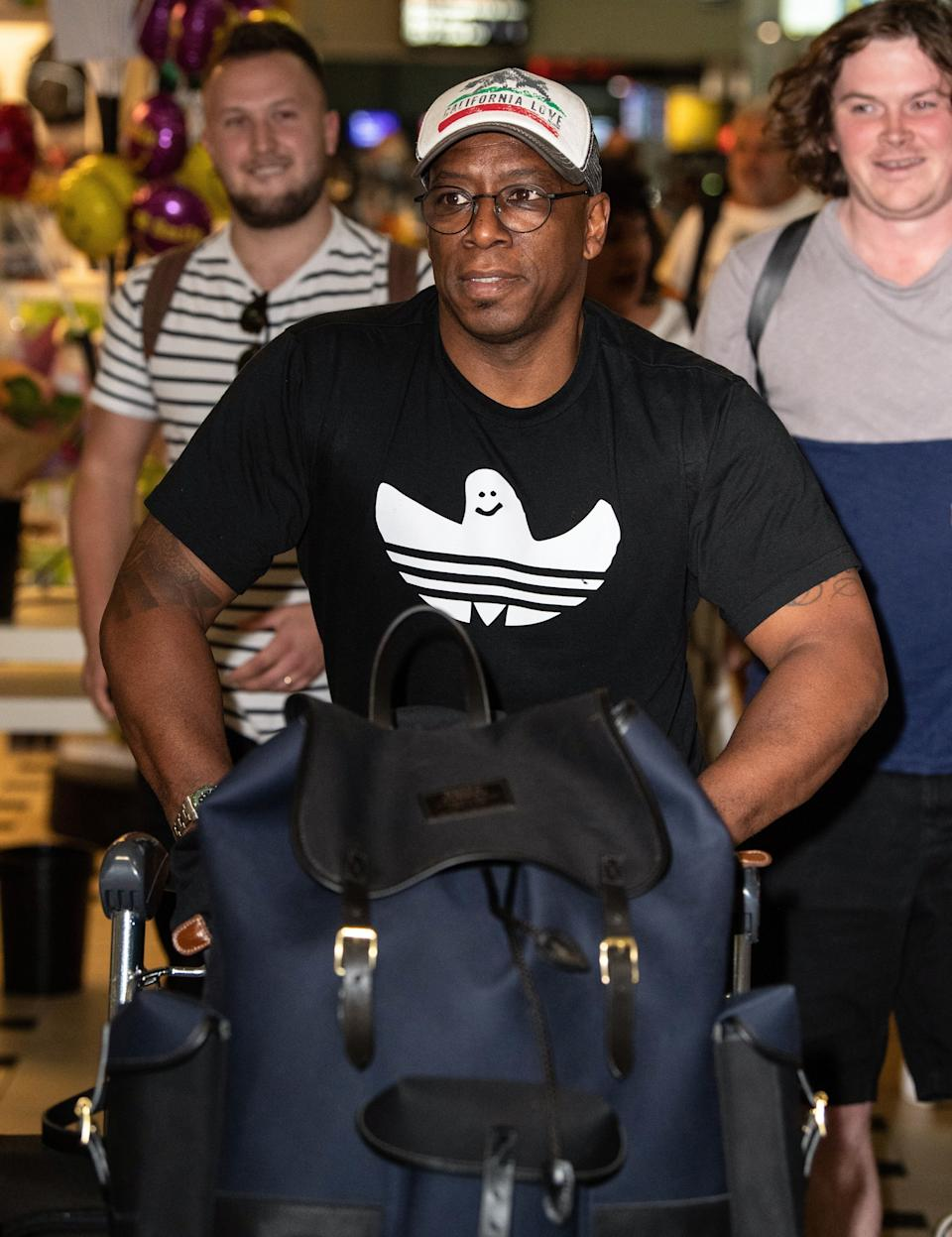 Ian Wright was also pictured after landing Down Under (Photo: James Gourley/ITV/Shutterstock)