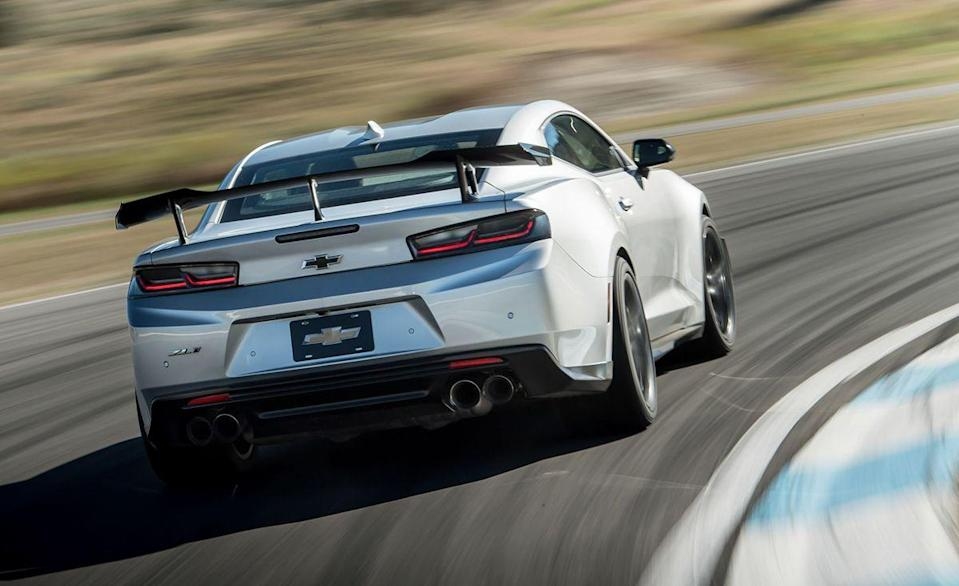 """<p>Chevy will no longer sell you a Corvette with a manual gearbox, but it still lets you rip gears in the <a href=""""https://www.caranddriver.com/chevrolet/camaro"""" rel=""""nofollow noopener"""" target=""""_blank"""" data-ylk=""""slk:Camaro"""" class=""""link rapid-noclick-resp"""">Camaro</a>. In fact, a six-speed manual is available in every variation of the rear-wheel drive muscle car, from the base 1LS with the turbo 2.0-liter all the way up to the fire-breathing ZL1 and ZL1 1LE with their supercharged 6.2-liter V-8.</p>"""