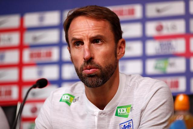 Soccer Football - England - Gareth Southgate Press Conference - King Power Stadium, Leicester, Britain - September 10, 2018 England manager Gareth Southgate during the press conference Action Images via Reuters/Andrew Boyers
