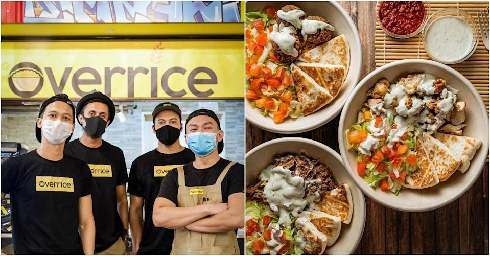 collage of owners of Overrice and rice bowlsOnline 7