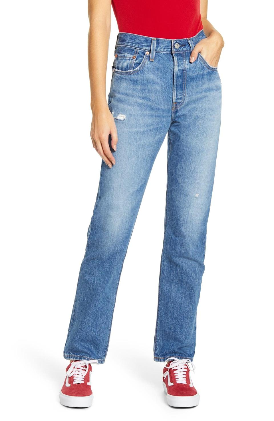 <p>These iconic <span>Levi's 501 High Waist Straight Leg Jeans</span> ($98) are exactly what we want to be wearing. If you're looking for a classic fit, these are it.</p>