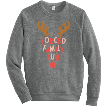 "<p>countryliving.com</p><p><strong>$44.99</strong></p><p><a href=""https://shop.countryliving.com/forced-family-fun-sweatshirt.html"" rel=""nofollow noopener"" target=""_blank"" data-ylk=""slk:Shop Now"" class=""link rapid-noclick-resp"">Shop Now</a></p><p>She'll love taking pictures with the family wearing this cute and a little cheeky sweatshirt.</p>"