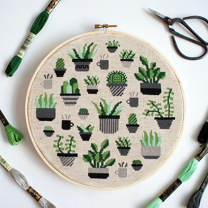 """<p>Grow your own garden of sorts with this cross stitch kit that includes a sampler of leafy green varieties—cacti, succulents, ferns, and more all in abundance.</p> <p><strong><em>Shop Now:</em></strong><em> The Stitch Mill Botany Dark Cross Stitch Kit, $35, <a href=""""https://www.thestitchmill.com/kits/botanydark-cross-stitch-kit"""" rel=""""nofollow noopener"""" target=""""_blank"""" data-ylk=""""slk:thestitchmill.com"""" class=""""link rapid-noclick-resp"""">thestitchmill.com</a></em><em>.</em></p>"""