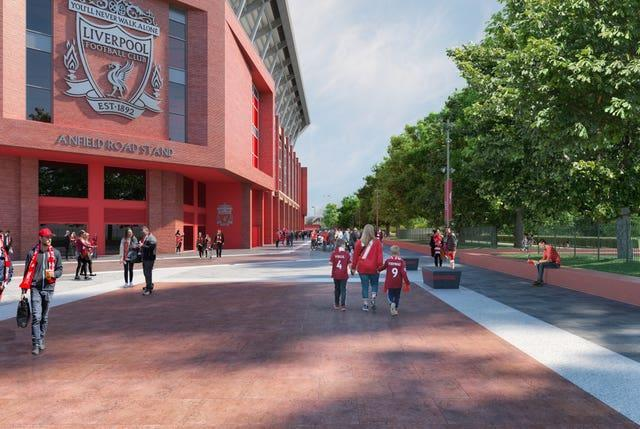 Liverpool granted planning permission to redevelop Anfield Road Stand