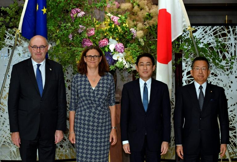 Japan, EU press ahead on free trade pact to counter U.S. protectionism