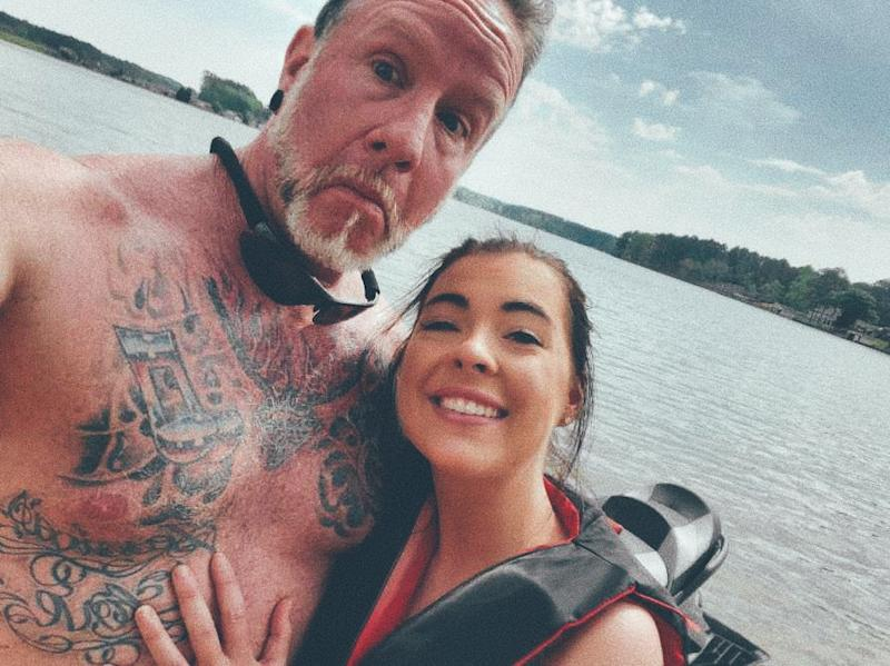 Kayla Caudill, 23, and 51-year-old partner Stephen Dunn