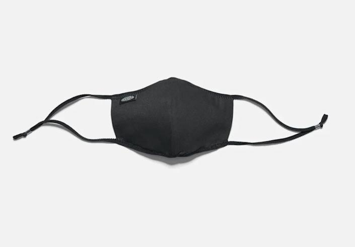 "This breathable face mask is made with two layers of BCI-certified (Better Cotton Initiative) canvas and has adjustable ear slides. Keep in mind that it's not made of sweat-resistant materials, though. <a href=""https://fave.co/30t2pd9"" rel=""nofollow noopener"" target=""_blank"" data-ylk=""slk:Find it for $15 at Keen"" class=""link rapid-noclick-resp"">Find it for $15 at Keen</a>."