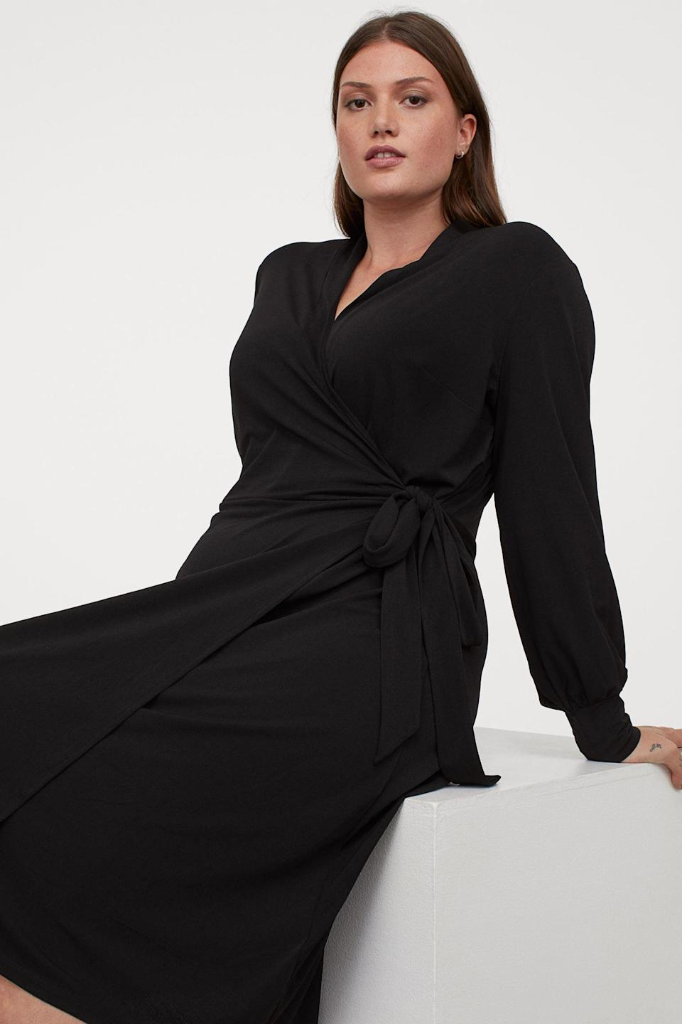 <p>From the office to an after-work dinner, this <span>Calf-Length Wrap Dress</span> ($28, originally $35) will stylishly transition from day to night.</p>
