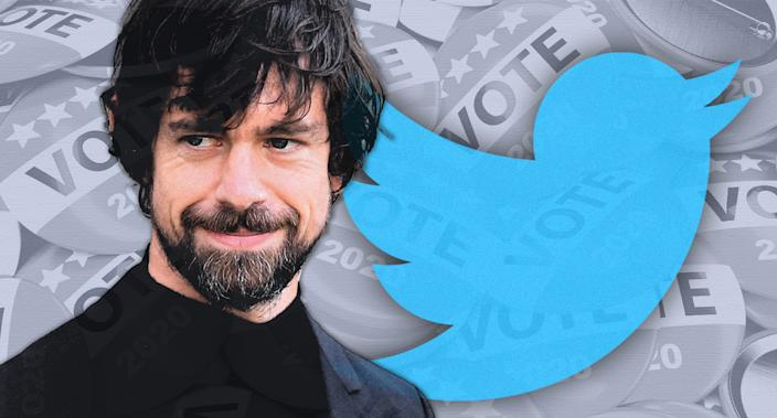 Twitter CEO Jack Dorsey. (Photo illustration: Yahoo News; photos: AP(2), Getty Images)