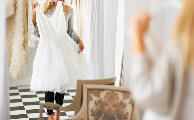 Can wedding guests ever wear white? It's controversial. (Photo: Getty Images)