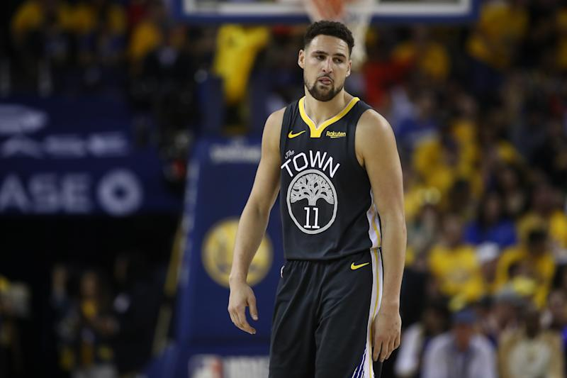 Klay Thompson counts free agents who can not consider the Lakers. (Getty)