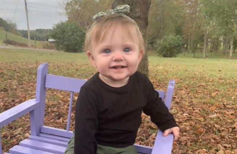 Image: 15-month old Evelyn Mae Boswell, who is missing (TBI)