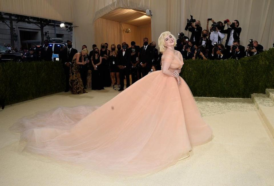Billie Eilish took inspiration from some of Hollywood's greatest stars for her Met Gala look and nodded to Marilyn Monroe and Grace Kelly (Evan Agostini/Invision/AP) (AP)