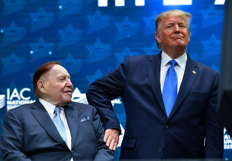 Sheldon Adelson was a big supporter of outgoing US President Donald Trump