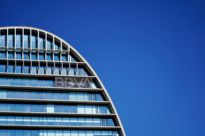 FILE PHOTO: A view shows the Spanish bank BBVA's headquarters, in Madrid