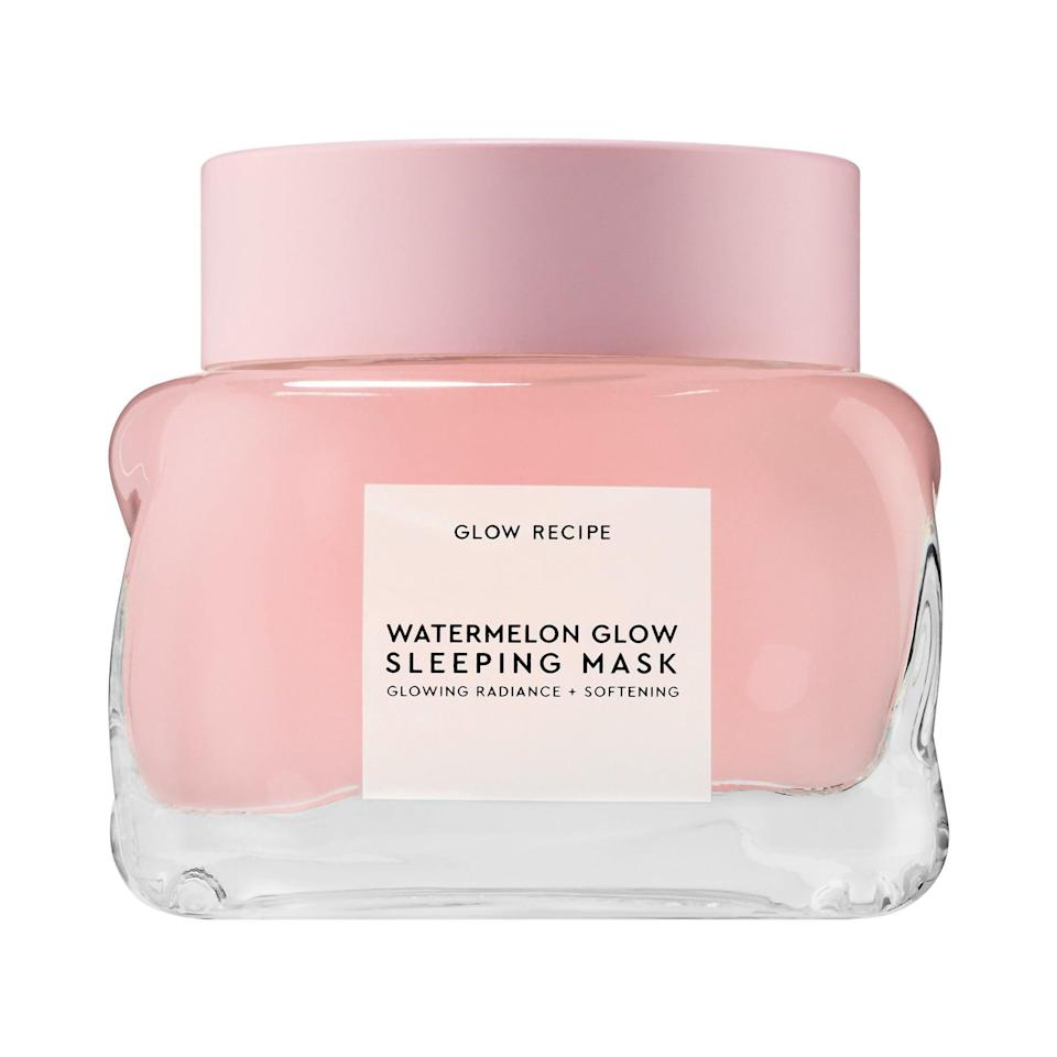 <p>Apply the <span>Glow Recipe Watermelon Glow Sleeping Mask</span> ($45) as the last step in your nighttime skin care routine. Wake up with glowing, bouncy skin. It's that simple.</p>