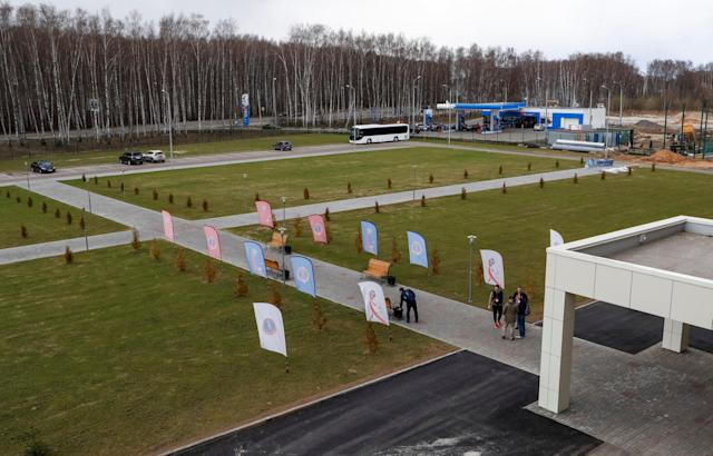 A general view shows the Borskiy Sports Centre, which was chosen to be the base for the Uruguay national soccer team during the 2018 FIFA World Cup, near the city of Nizhny Novgorod, Russia, April 29, 2018. Picture taken April 29, 2018. REUTERS/Sergei Karpukhin