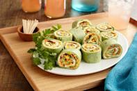 """<p>For fool-proof appetizers to serve during that in-between time when everyone's craving a filling snack, let cream cheese pinwheels be your go-to. Made with savory, flavorful ingredients in colorful spinach wraps, we know your guests will be reaching for these. </p> <p><strong>Get the recipe:</strong> <a href=""""https://www.popsugar.com/food/Cream-Cheese-Pinwheels-43463905"""" class=""""link rapid-noclick-resp"""" rel=""""nofollow noopener"""" target=""""_blank"""" data-ylk=""""slk:cream cheese pinwheels"""">cream cheese pinwheels</a></p>"""