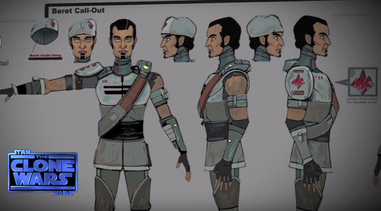 Character studies for Saw Gerrera in 'Star Wars: The Clone Wars' (Lucasfilm)