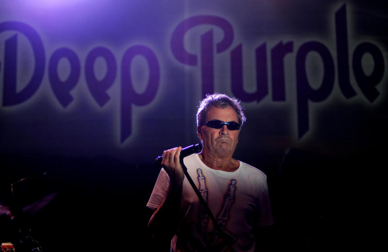 FILE - In this file photo taken Sunday, May 8, 2011, British musician Ian Gillan of Deep Purple performs during a concert in Nicosia, Cyprus. Deep Purple is nominated for induction into the Rock and Roll Hall of Fame in 2013. (AP Photo/Petros Karadjias, File)