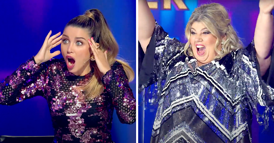 The judges appear shocked at the reveal of a major international celebrity. Photos: Channel 10