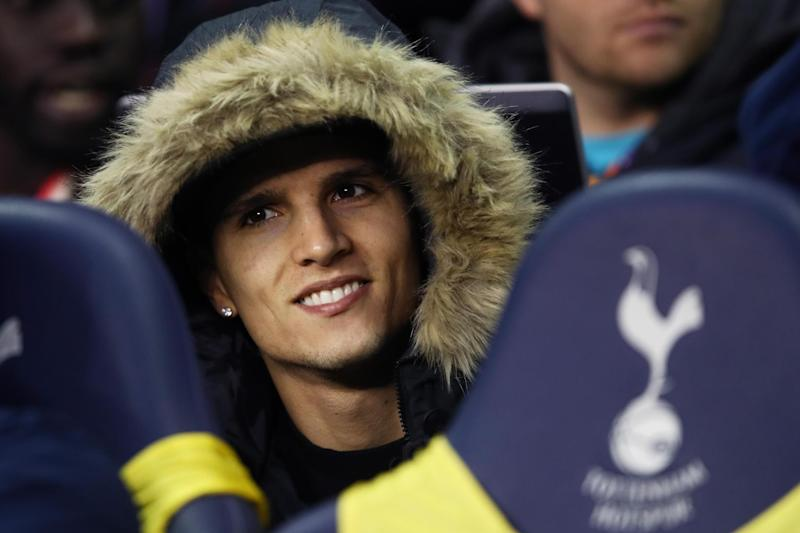 Surgery success: Erik Lamela tweeted a picture from his hospital bed on Sunday morning: Getty Images