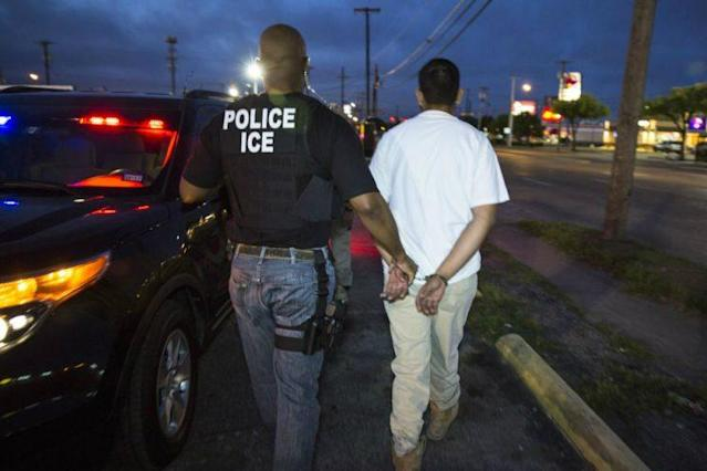 ICE arrests of undocumented immigrants are up nearly 40 percent this year. (Photo: U.S. Immigration and Customs Enforcement agency handout)