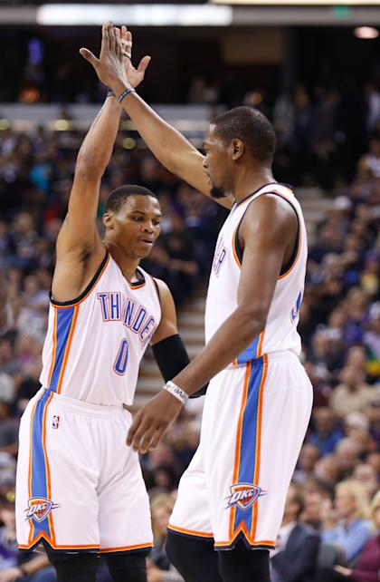 The Thunder have recovered from injuries to Russell Westbrook (left) and Kevin Durant. (USA Today)
