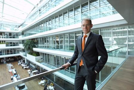Menno Snel, Dutch state secretary for finance is seen posing for the picture inside the Finance Ministry building in The Hague