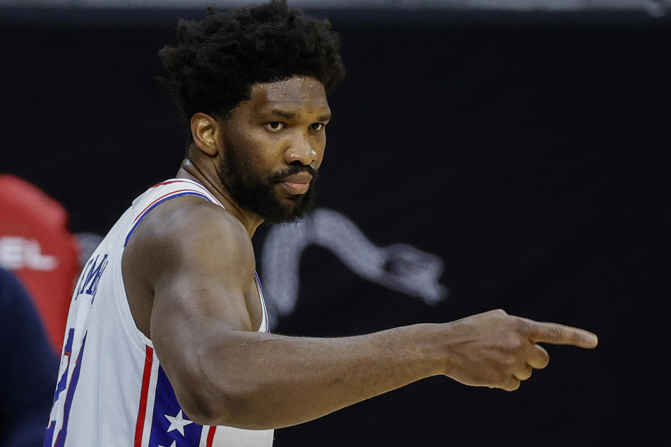 Joel Embiid has been an early MVP candidate for the Philadelphia 76ers. (Tim Nwachukwu/Getty Images)