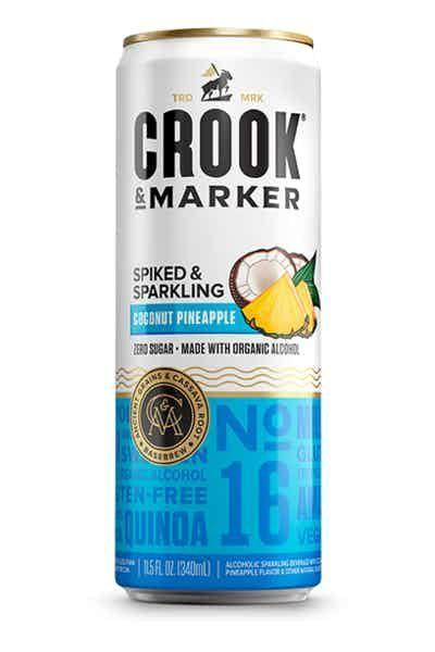 """<p><strong>Crook & Marker </strong></p><p>drizly.com</p><p><strong>$8.99</strong></p><p><a href=""""https://go.redirectingat.com?id=74968X1596630&url=https%3A%2F%2Fdrizly.com%2Fbeer%2Fspecialty-beer-alternatives%2Fhard-seltzer%2Fcrook-and-marker-spiked-sparkling-coconut-pineapple-seltzer%2Fp92498&sref=https%3A%2F%2Fwww.delish.com%2Fkitchen-tools%2Fcookware-reviews%2Fg33263238%2Fhard-seltzers%2F"""" rel=""""nofollow noopener"""" target=""""_blank"""" data-ylk=""""slk:BUY NOW"""" class=""""link rapid-noclick-resp"""">BUY NOW</a></p><p>No time to make a Piña Colada? This coconut and pineapple flavored seltzer tastes just like the tropical drink—with a fraction of the calories.</p>"""