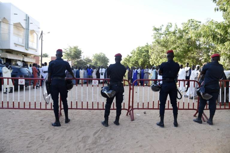 The court case in the northern Senegal was held amid tension as police blocked roads and supporters of the teacher, Cheikhouna Gueye, gathered behind barriers