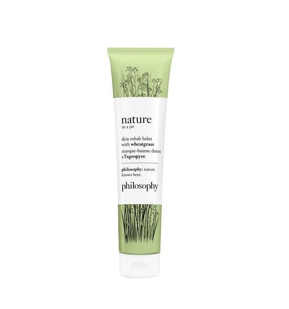 <p>The broccoli, wheatgrass, and ginger in the <span>Philosophy Nature in a Jar Balm Mask With Wheatgrass</span> ($39) make it great for soothing skin and boosting hydration.</p>