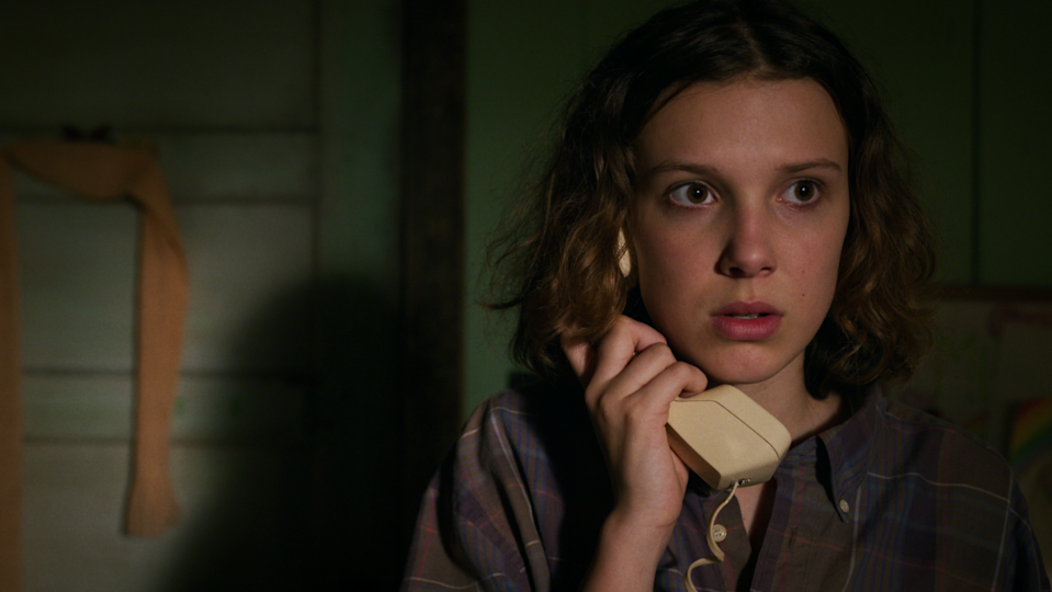 Stranger Things' Eleven is on the phone