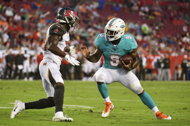Miami running back Mark Walton reached a global plea deal and won't serve any more jail time after multiple arrests this offseason. (Julio Aguilar/Getty Images)