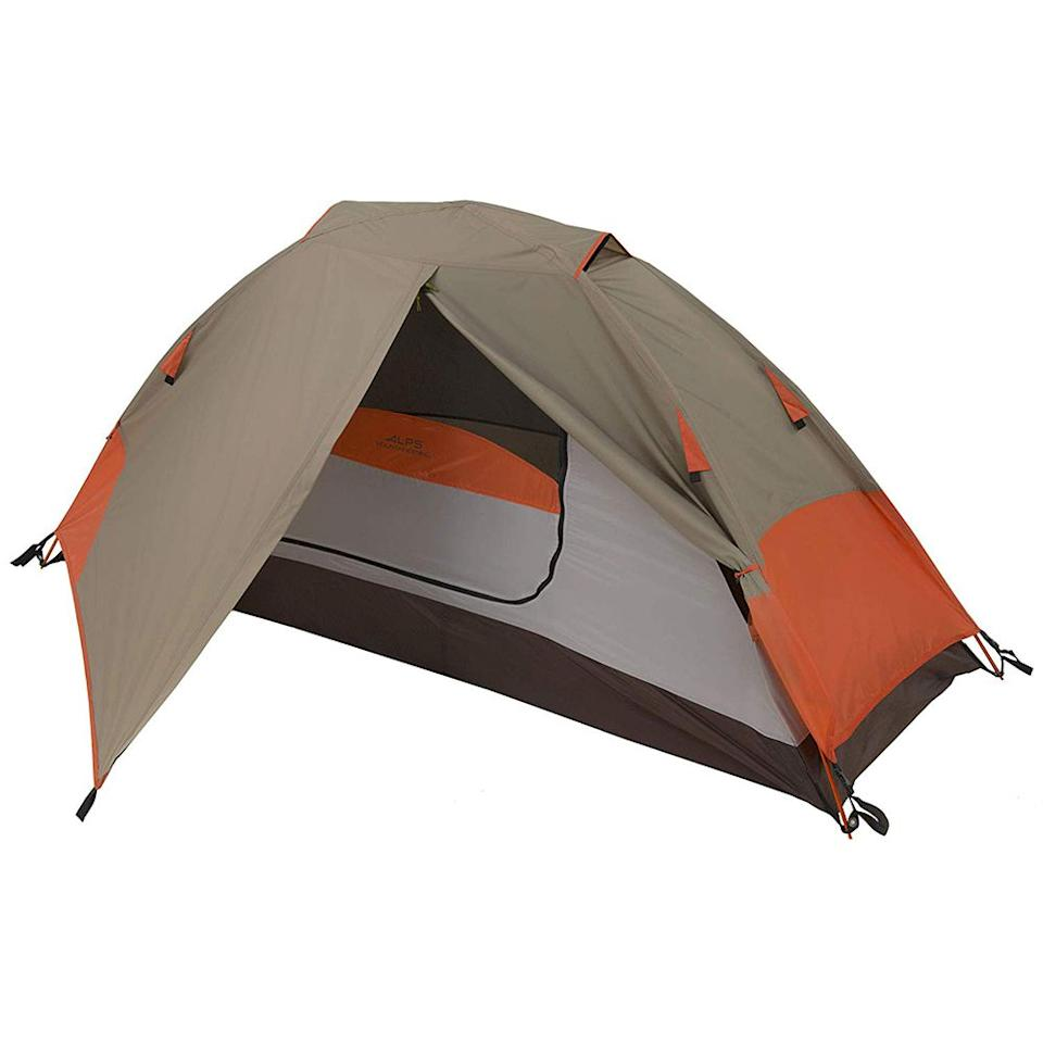 "<p><strong>ALPS Mountaineering</strong></p><p>amazon.com</p><p><strong>$83.97</strong></p><p><a href=""http://www.amazon.com/dp/B00BMKD1DU/?tag=syn-yahoo-20&ascsubtag=%5Bartid%7C2139.g.28339425%5Bsrc%7Cyahoo-us"" target=""_blank"">BUY IT HERE</a></p><p>If you're spending some quality ""me"" time in nature, this durable 1-person aluminum tent will protect you from the elements (both rain and UV rays), without weighing you down. </p>"