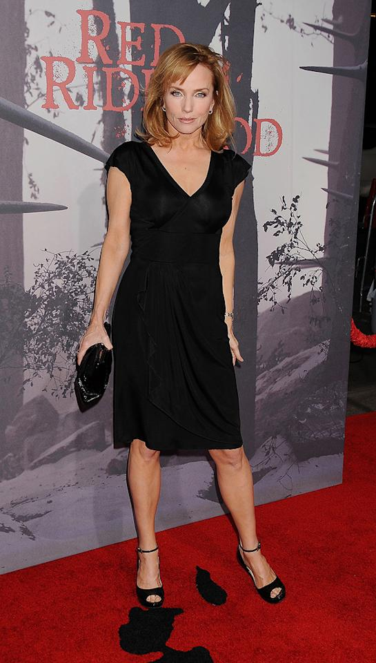 """<a href=""""http://movies.yahoo.com/movie/contributor/1800017673"""">Rebecca De Mornay</a> at the Los Angeles premiere of <a href=""""http://movies.yahoo.com/movie/1810157569/info"""">Red Riding Hood</a> on March 7, 2011."""