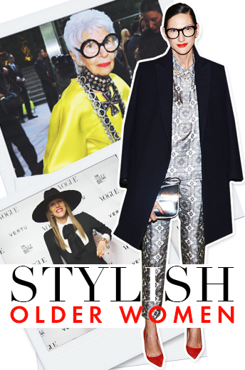 Click through to see the most stylish women between the ages of 45 and 95.