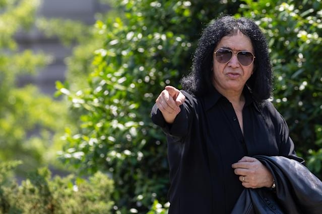 Kiss frontman Gene Simmons pictured at the White House in May 2019. [Photo: Getty]