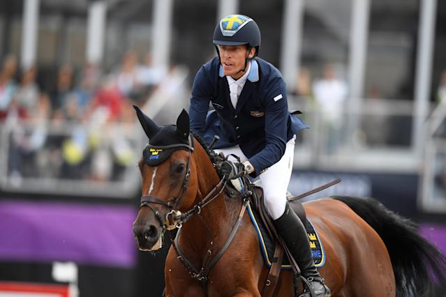 Equestrian - FEI European Championships 2017 - Jumping Individual Final - Ullevi Stadium, Gothenburg, Sweden - August 27, 2017 - Henrik von Eckermann of Sweden rides on his horse Mary Lou 194. TT News Agency/Pontus Lundahl via REUTERS ATTENTION EDITORS - THIS IMAGE WAS PROVIDED BY A THIRD PARTY. SWEDEN OUT. NO COMMERCIAL OR EDITORIAL SALES IN SWEDEN
