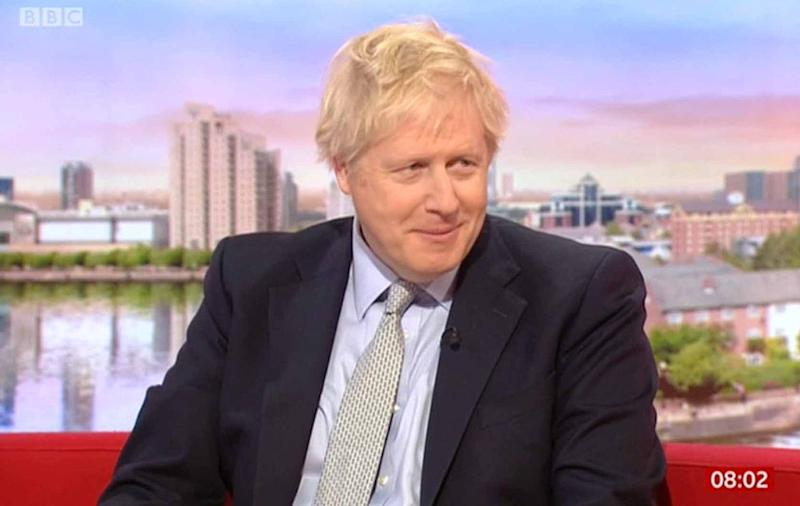 Boris Johnson grew flustered at questions over his relatability (BBC)