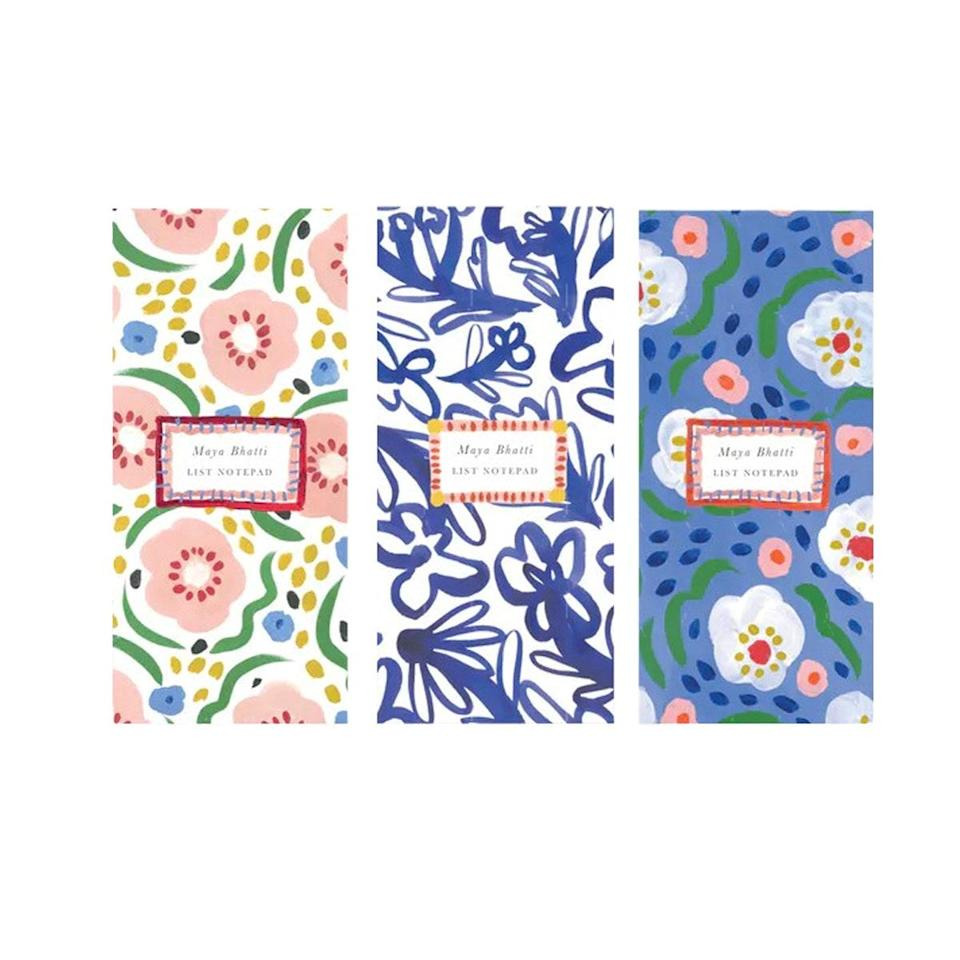"""If she lives for a to-do list, Papier's trio of custom notepads will make for an A-plus kind of gift. $29, Papier. <a href=""""https://www.papier.com/us/happy-blooms-473"""" rel=""""nofollow noopener"""" target=""""_blank"""" data-ylk=""""slk:Get it now!"""" class=""""link rapid-noclick-resp"""">Get it now!</a>"""